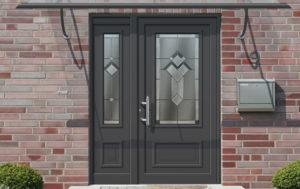 Porte en aluminium traditionnelle