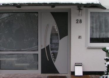 Portes d'entrée design en Aluminium